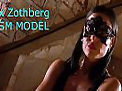 Sporty BDSM model Alex Zothberg explaining her private services