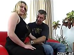 Stunning amateur real rep sister and bobther babe gives fat old guy hot fellatio