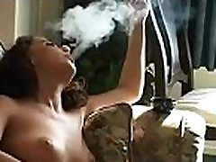 Lustful doxy alana pussy a cigarette and touching herself
