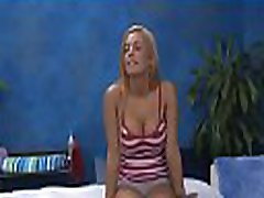 Hawt drilled hard and facialed during a massage video