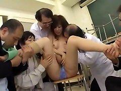 Exotic Japanese girl in Horny Handjobs, Fingering JAV clip