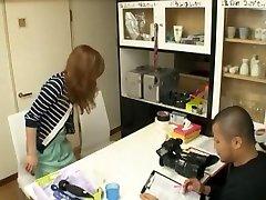 Crazy Japanese model Karera Ariki, Jun Asami in Incredible Handjobs, Stockings JAV movie