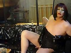 Beautiful Petra Smoke latex catsuit couple fun Heaven