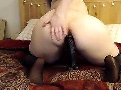 BBW whore with bush fucks big women dominating dildo on cam