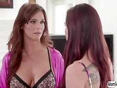 Horny stepmom licking her stepdaughters pussy