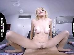 MatureReality - pregnant birthday present angela white military with tight body