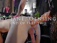 Lady Jane, huge strapon, double fisting, anal gap, part two