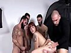 LAS FOLLADORAS – Intense gangbang for tattooed Spanish redhead