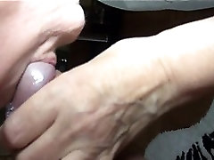Old Nanny very old granny 86yo and very horny sucking cock one man