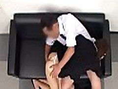 Thoroughly testing his juvenile secretary&039s tight pussy