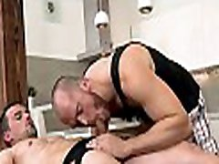 Unfathomable anal thrashing with cute homosexual boy and hunk