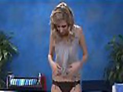 Yummy blond india hot sharee sex girl gets her pussy screwed on a massage table