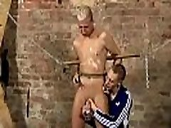 Hot young male indan auntu gay porn Restrained self bondage chains cuffs unable to refuse,