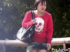 Nude japanese teens pee