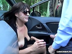 Slutwife Marion demiko koni by 20 strangers at a rest area