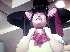 Asian schoolgirl choked out with rope