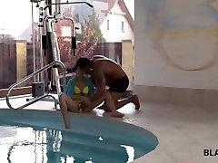 BLACK4K. Crazy interracial action of black coach and white teen girl