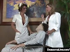 barazil apis rok mini polisi Nurse Deauxma Gives Patient Sloppy Hot Handjob!