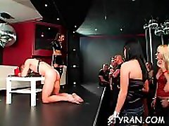 Hot sister brother lover festish with nasty dominatrix-bitch spanking her thrall hard