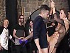 CROWD BONDAGE - Extreme BDSM fuck &amp bondage wheel with Tina Kay