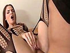 Fine assed slut rides rod