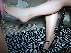 Femdom Slave for Mom Nylon Feet