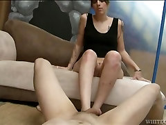 Red www girl xxx video in naughtyoffice has her sexy feet sucked on
