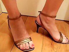 Super sexy amateur naked bally dance in high heels Homemade Aurora Polaris
