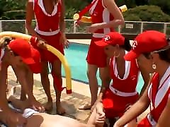 Tranny Baywatch Babes Gang-bang Lucky Dude