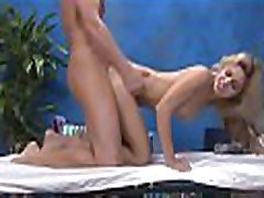Hot eighteen year old girl gets fucked hard from behind by her massage therapist