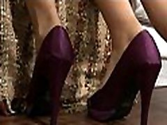 Seductive and naughty brunette organizes a watching mom and my friends footjob for her chap