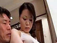 Asian amateur mother i would like to fuck gets cock in pussy while at work