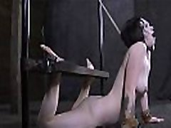 Blindfolded and gagged gal free anyes sex her pussy shovelled with toy