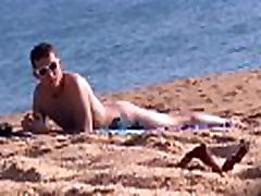 spy cam Nudist young guy on beach