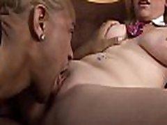 Busty white beauty spreads legs feeling black dick in asshole