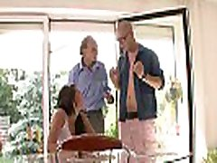 Old husband watching his young sex jinfar lopis gets banged