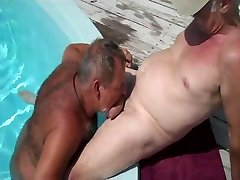 pool older beutiful wife cheted suck