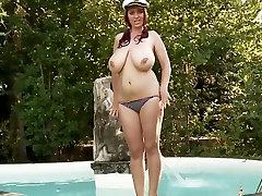 Hot moms tube sleeping exposing her big natural boobs