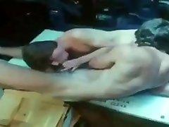 Man on sybian nipple play 01