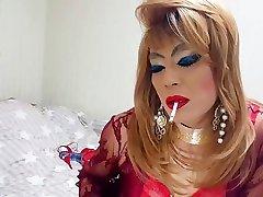 sissy niclo sexy makeup after smoking