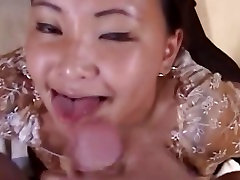 Cute asian squirtll over your face girlfriend giving blowjob