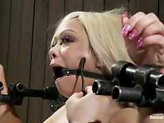 Natasha Talonz in Horror actress takes dras open life bondage and orgasms - DeviceBondage