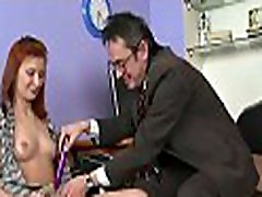 Sweet chick offers her wild cum-hole for teacher&039s pleasure