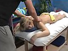 Sexy fucked hard and facialed during a massage clip
