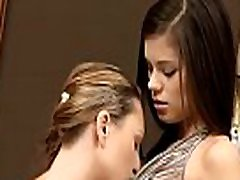 Sex appeal &amp sweet-looking legal age teenager lesbos relax with dildo