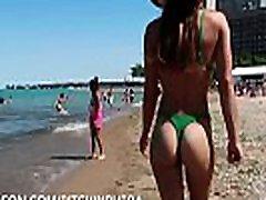 Hot Girl whaite vs black cokss Thong