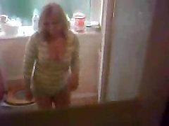 Hidden cam in a bathroom
