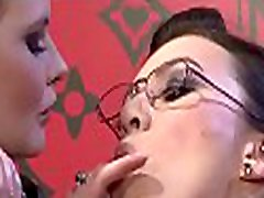 Breathtaking lesbian chicks play sensually with oil and toys