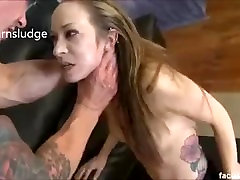Nasty Skank Gives A Blowjob While Getting Slapped In The Face