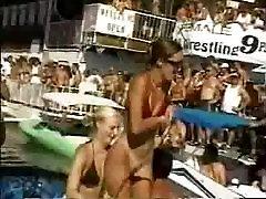 Beach girl - oops - little tits